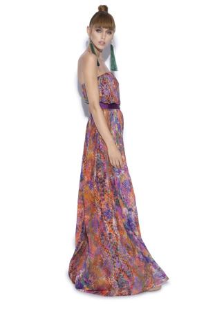 Evening maxi dress with print