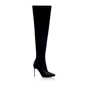 Long velvet boots