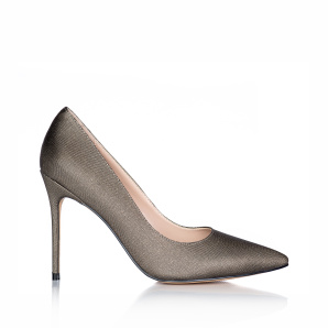 Pantofi stiletto din tesatura metalica