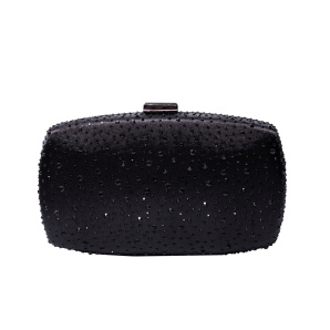 Clutch with small black crystals
