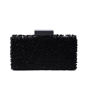 Clutch with black beads