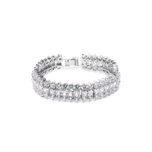 Sparkling bracelet with cubic zirconia crystals