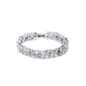 Bracelet with cubic zirconia crystals