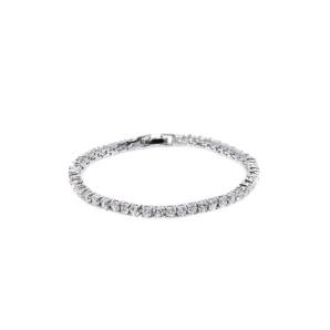 Elegant bracelet with cubic zirconia crystals