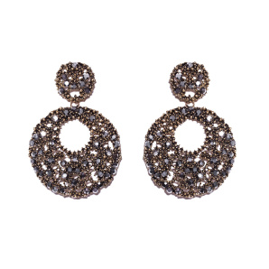 Earrings with faux marcasite