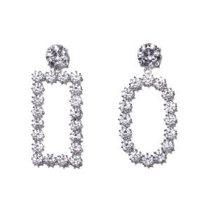 Elegant earrings different shapes