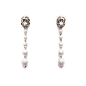 Cercei lungi cu aplicatii tip perle