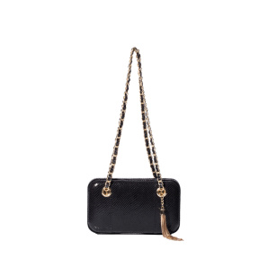 Shoulder bag with metallic details