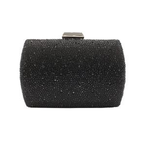 Black clutch with shiny stones