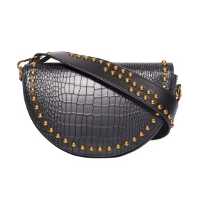Shoulder bag with metallic studs