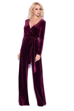 Bordo velvet jumpsuit