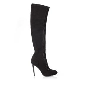 High heeled elastic boots