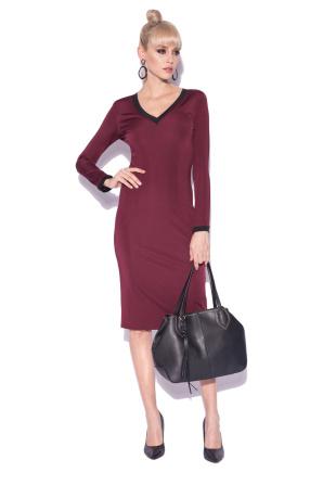 V neck fitted dress