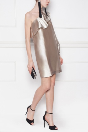 Evening Dress with metallic shades