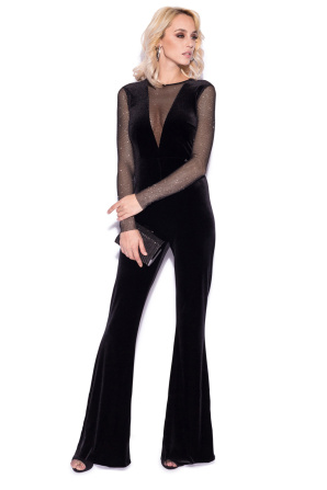Elegant jumpsuit with flared pants