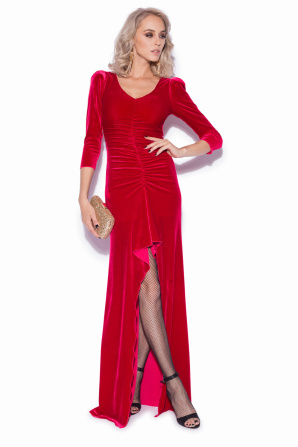 Long velvet elegant dress