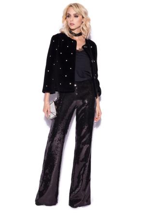 Sequin elegant trousers