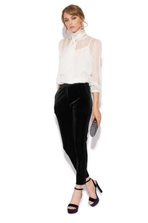 Velvet slim trousers