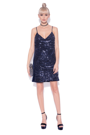 H-line evening dress with sequins