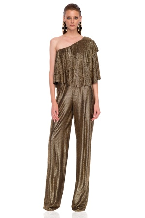 Elegant metallic jumpsuit