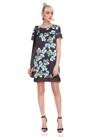 H-line dress with floral print