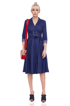 Clos denim dress with front buttons