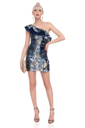 Mini dress with ruffle detail