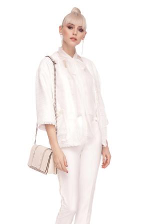 Elegant jacket made of textured fabric