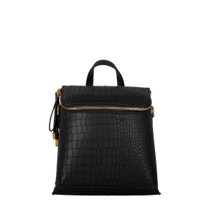 Backpack made of faux croco leather with zipper