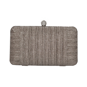Clutch made of shiny fabric