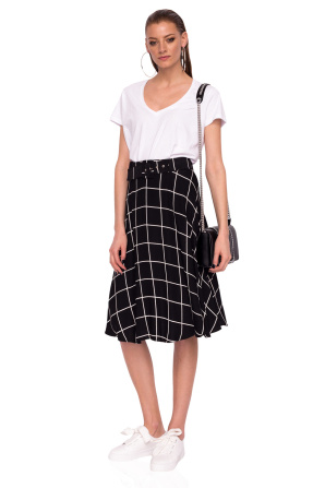 Clos skirt with geometric print