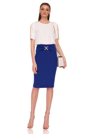 Pencil skirt with waist detail