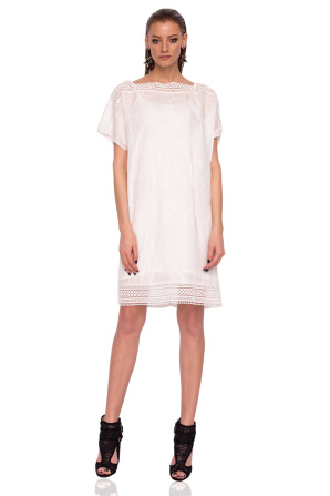 H-line dress with short sleeves