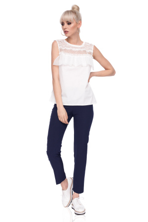 Top with bust ruffles