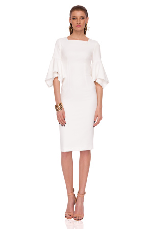 Bodycon dress with flared sleeves