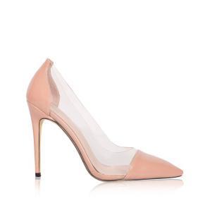 Stiletto shoes with transparent details