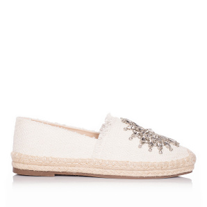 Espadrilles with glass crystal details