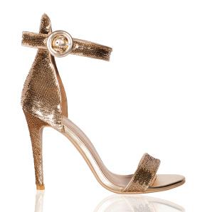 Elegant sandals with sequins