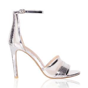 Elegant metallic sandals