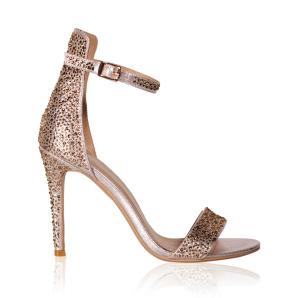 Elegant sandals with shiny details