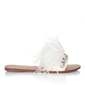 Slides with feather details