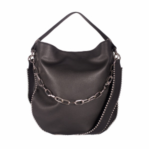Casual bag with metallic studs