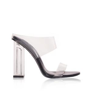 Sandals with transparent details