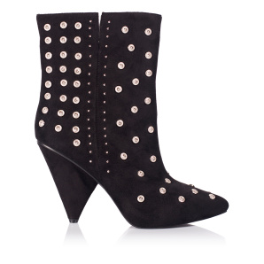 Boots with metallic studs