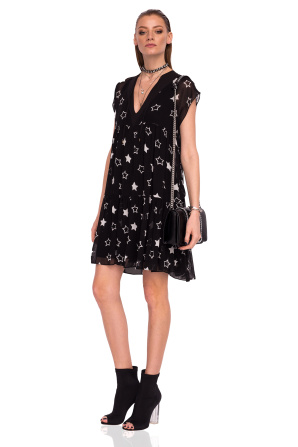 Loose dress with star print