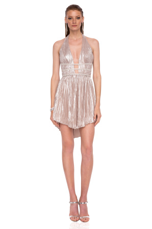 Mini metallic dress