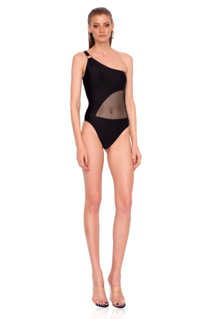Swimsuit with fishnet detail