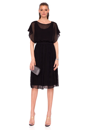 Loose midi silk dress