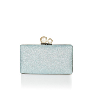 Clutch with glitter layer