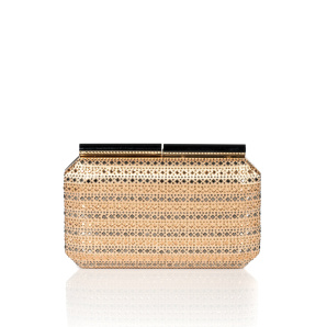Sparkling clutch with glass crystals